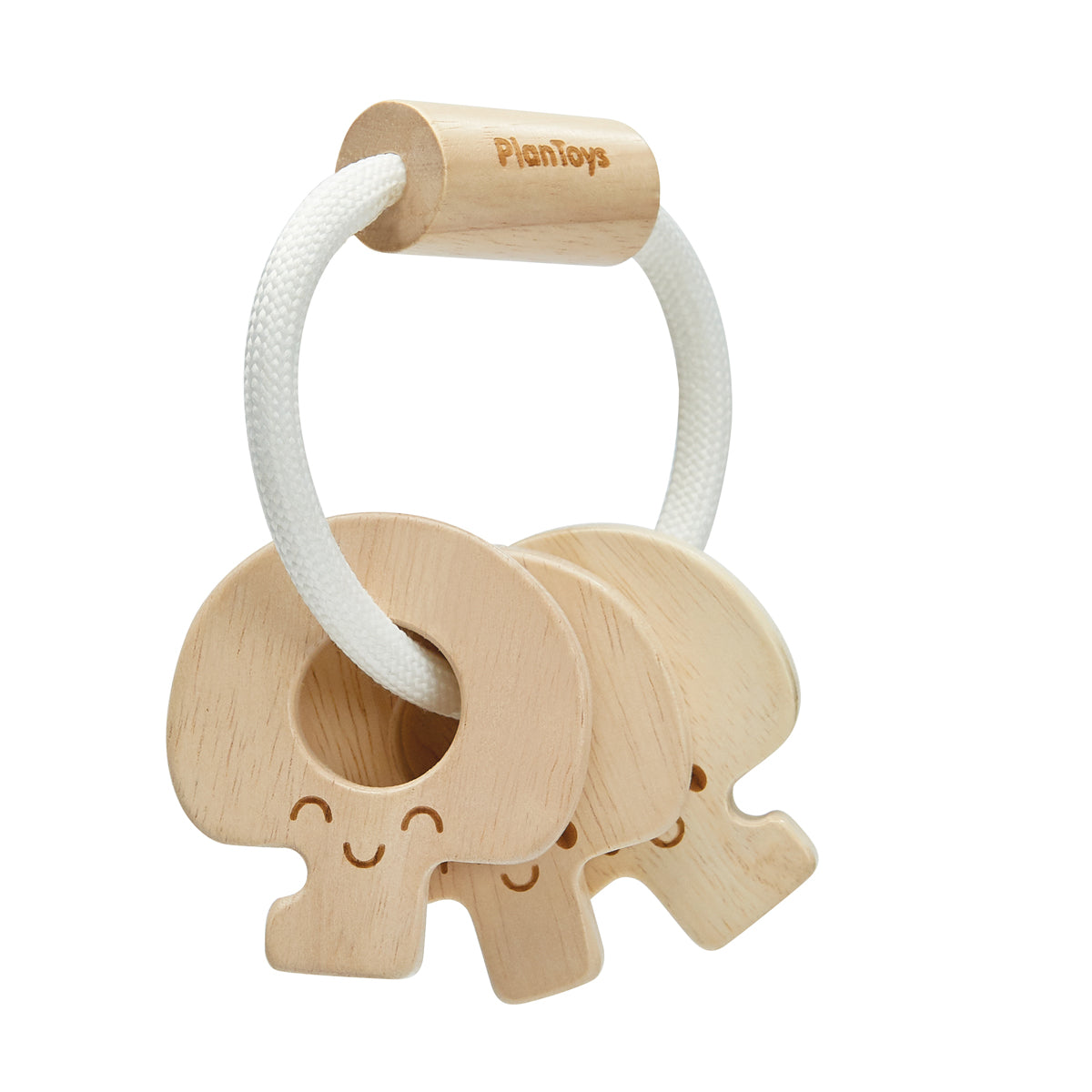 Baby Key rattle Natural Plan toys Rubber wood