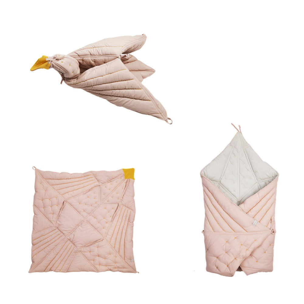 Dreamy Bird blanket Mauve