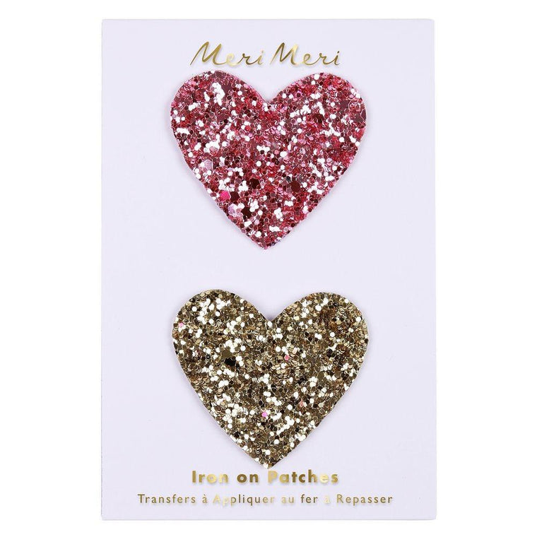 Glitter Heart Patches