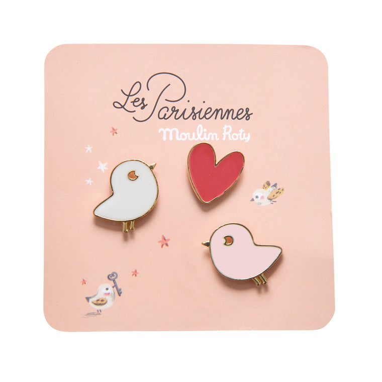 Moulin Roty Set of 3 pins Birds