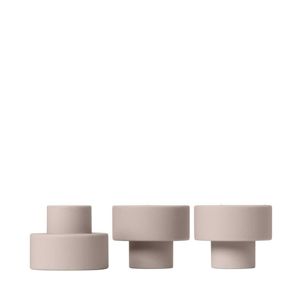 Trio candle holder 3 colours