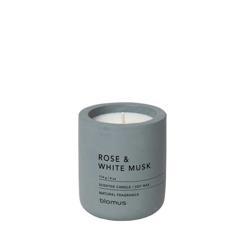 Blomus Fraga Small Scented Candle Rose and White Musk Flint stone