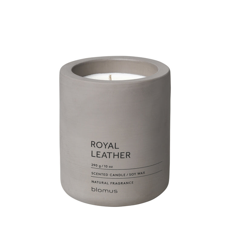 Scented candle L satellite Royal Leather FRAGA