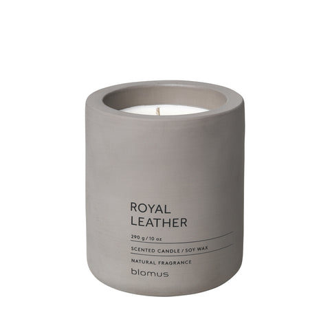 Blomus Scented candle L satellite Royal Leather FRAGA Soy wax