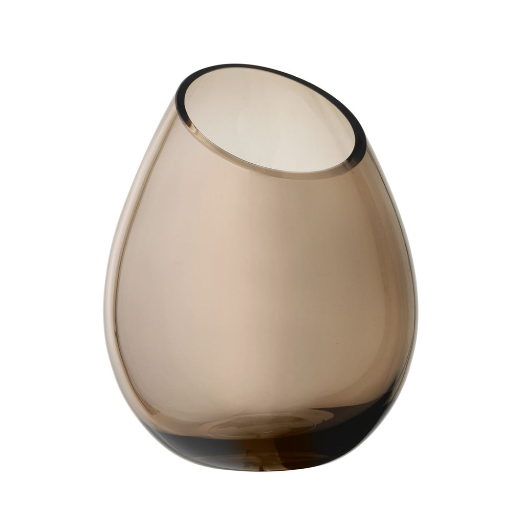 Vase M coffee DROP brown glass Justyna Poplawska Blomus