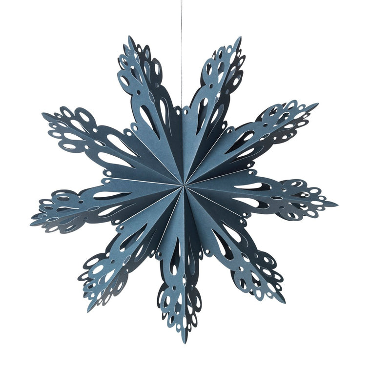 Deco Snowflake M 30cm Orion Blue