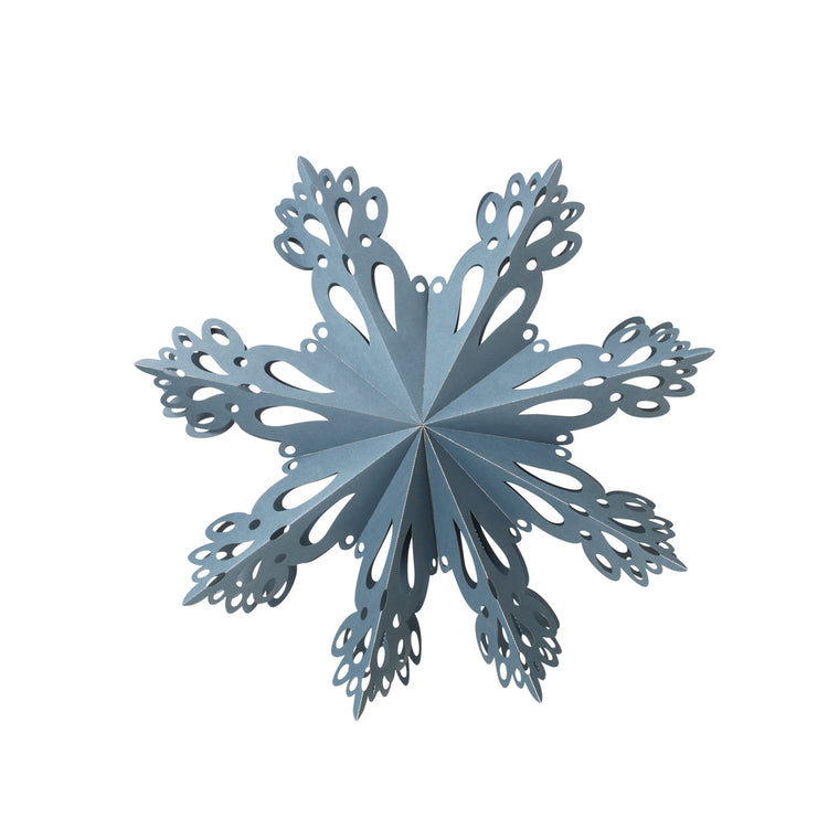 Deco Snowflake L 46cm Orion Blue