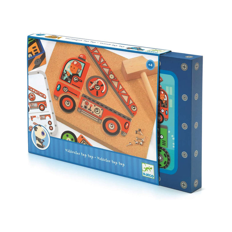 Tap Tap Vehicles hammer and cork wooden toy from Djeco