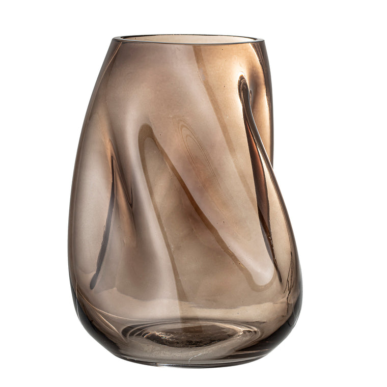 Vase, Brown, Glass