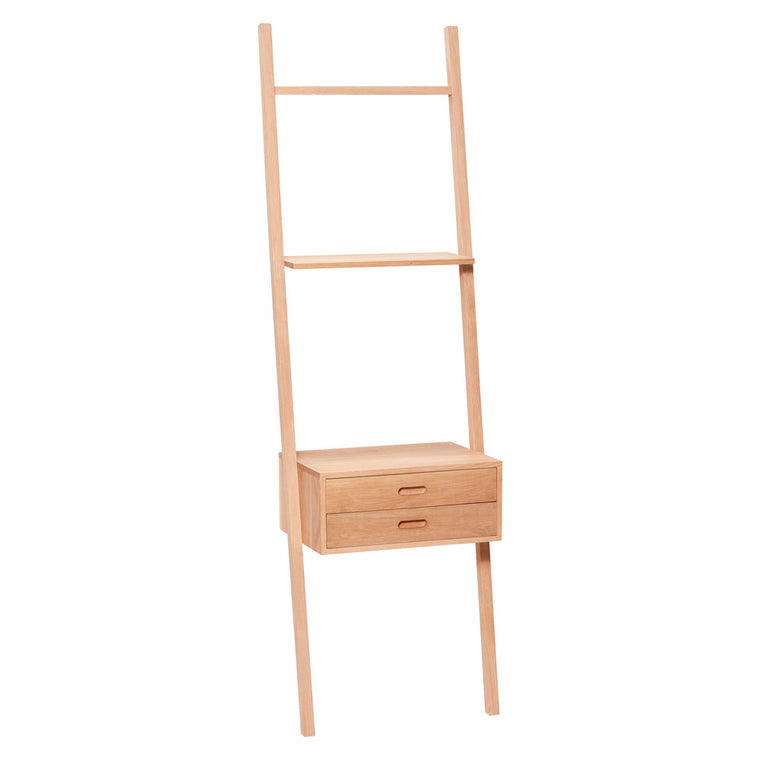 Oak Display ladder with drawers