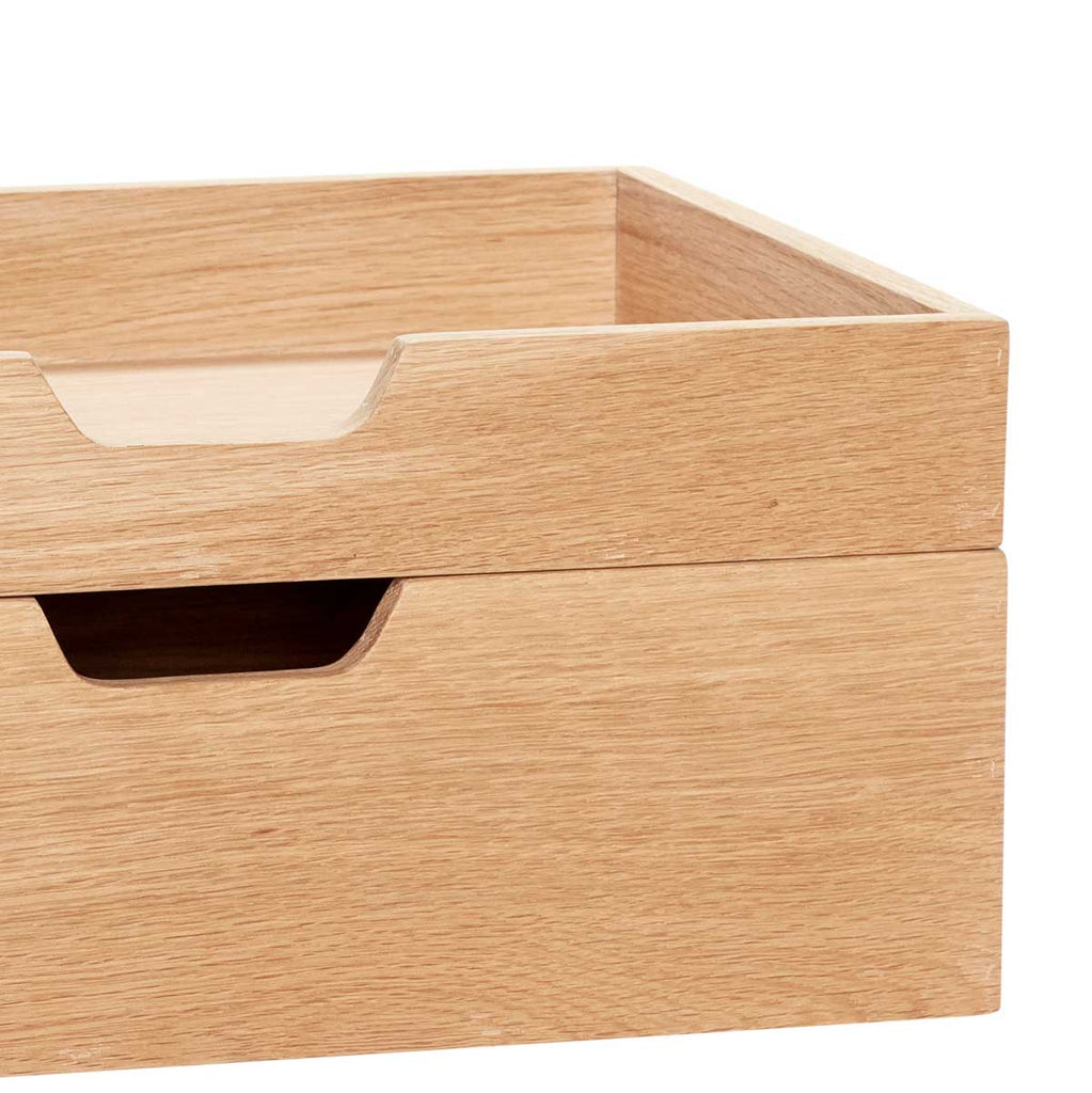Oak Storage box from Hübsch with two compartments desk tidy