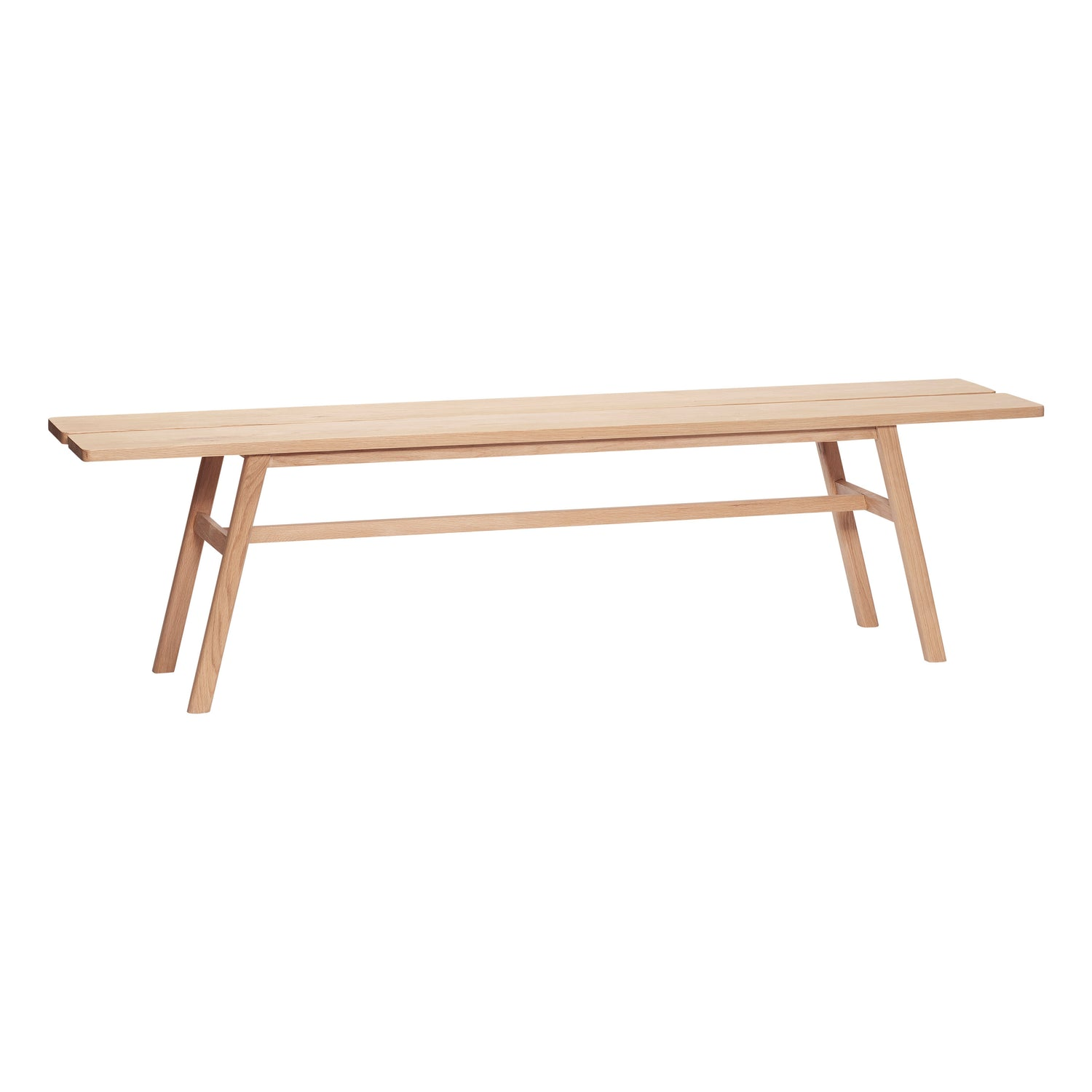 Hübsch scandinavian wooden oak bench