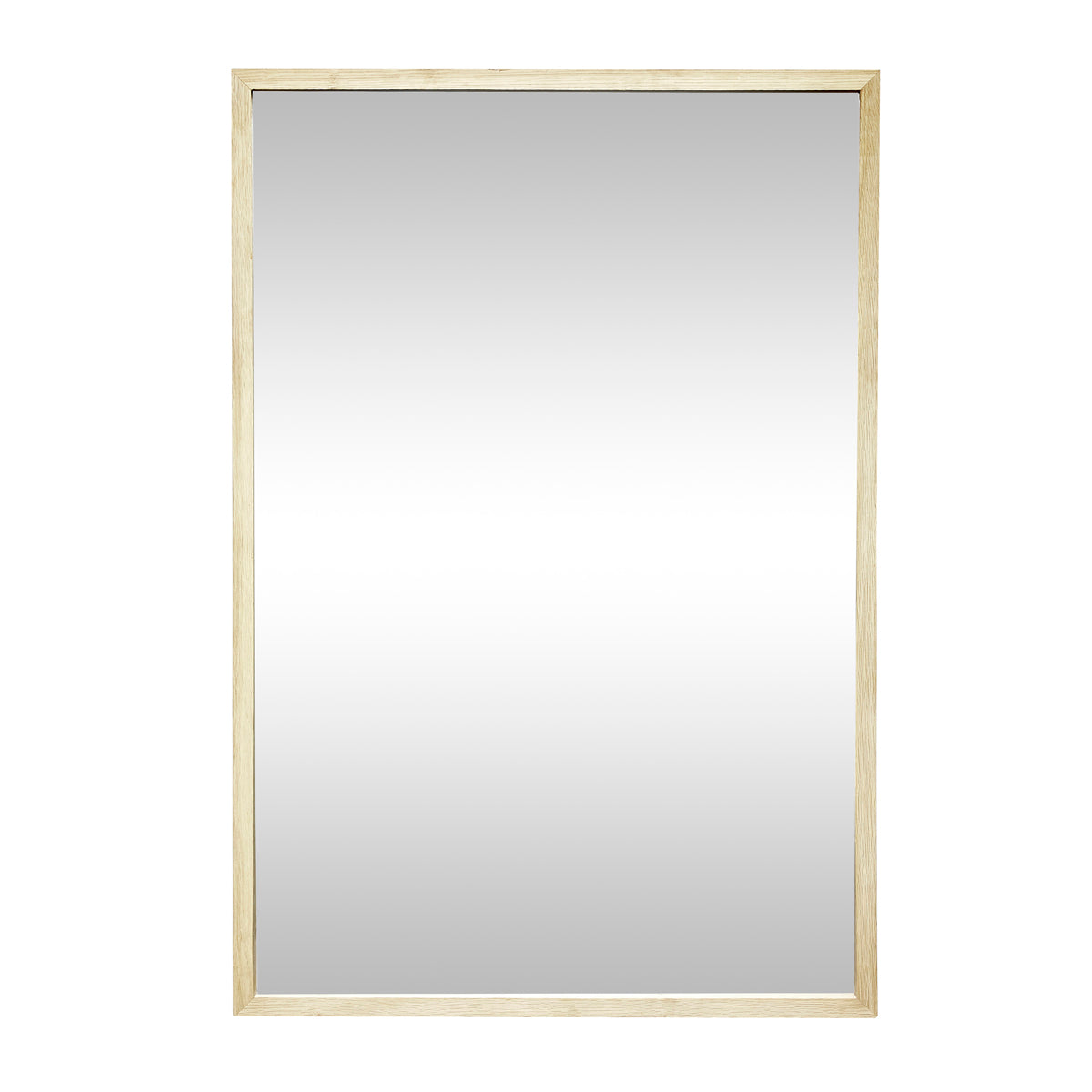 Simple wooden rectangular Mirror, Oak, Nature Hübsch