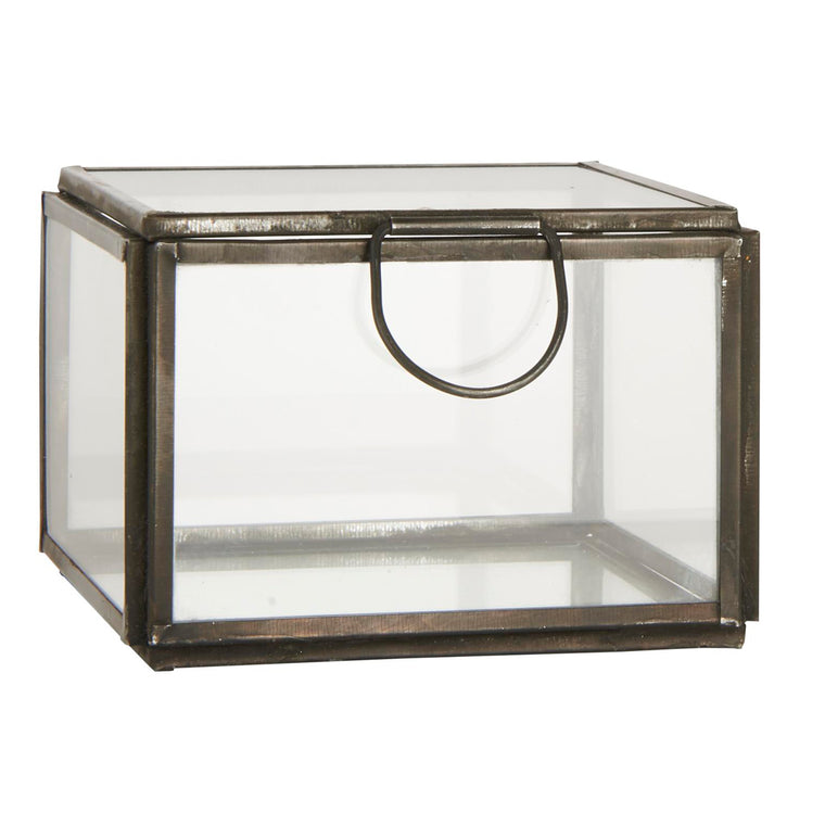 Glass box w/lid square ALTUM