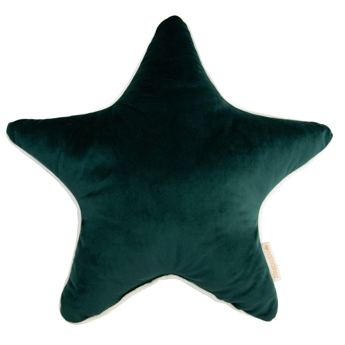 Nobodinoz Aristote cushion • velvet jungle green