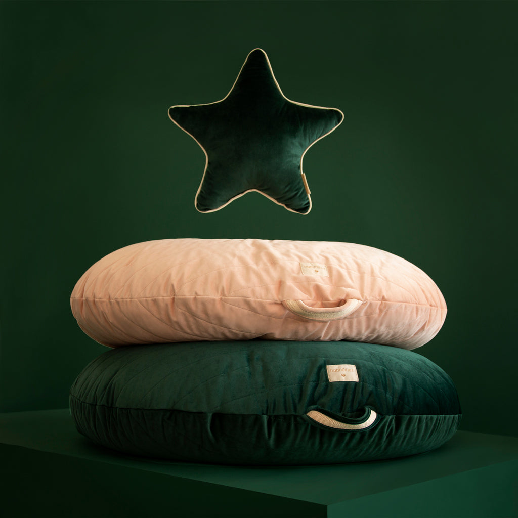 Aristote cushion • velvet jungle green