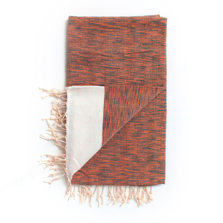 Arizona Hammam Towel, Burnt Orange Bohemia Design cotton and bamboo