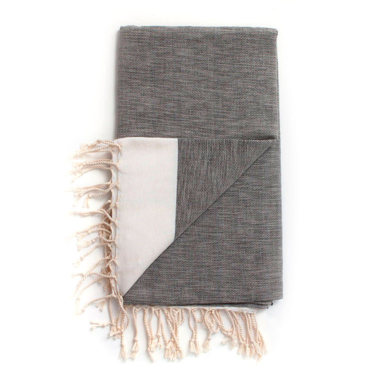 Arizona Hammam Towel, Charcoal Bohemia Design cotton and bamboo