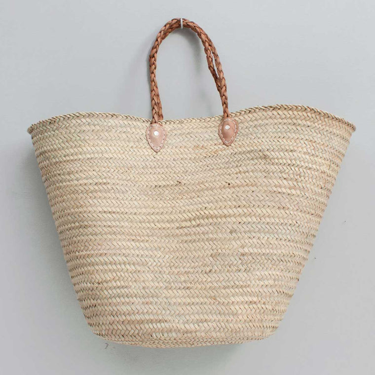 Oversized French shopping basket