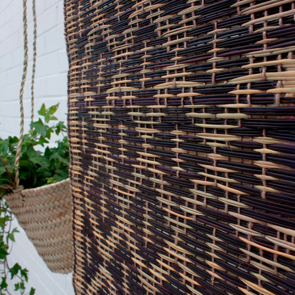 Woven moroccan reed mat Berry Bohemia design