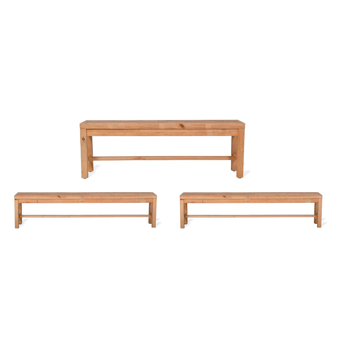 Brookville Table and Bench Set, Large - Pine