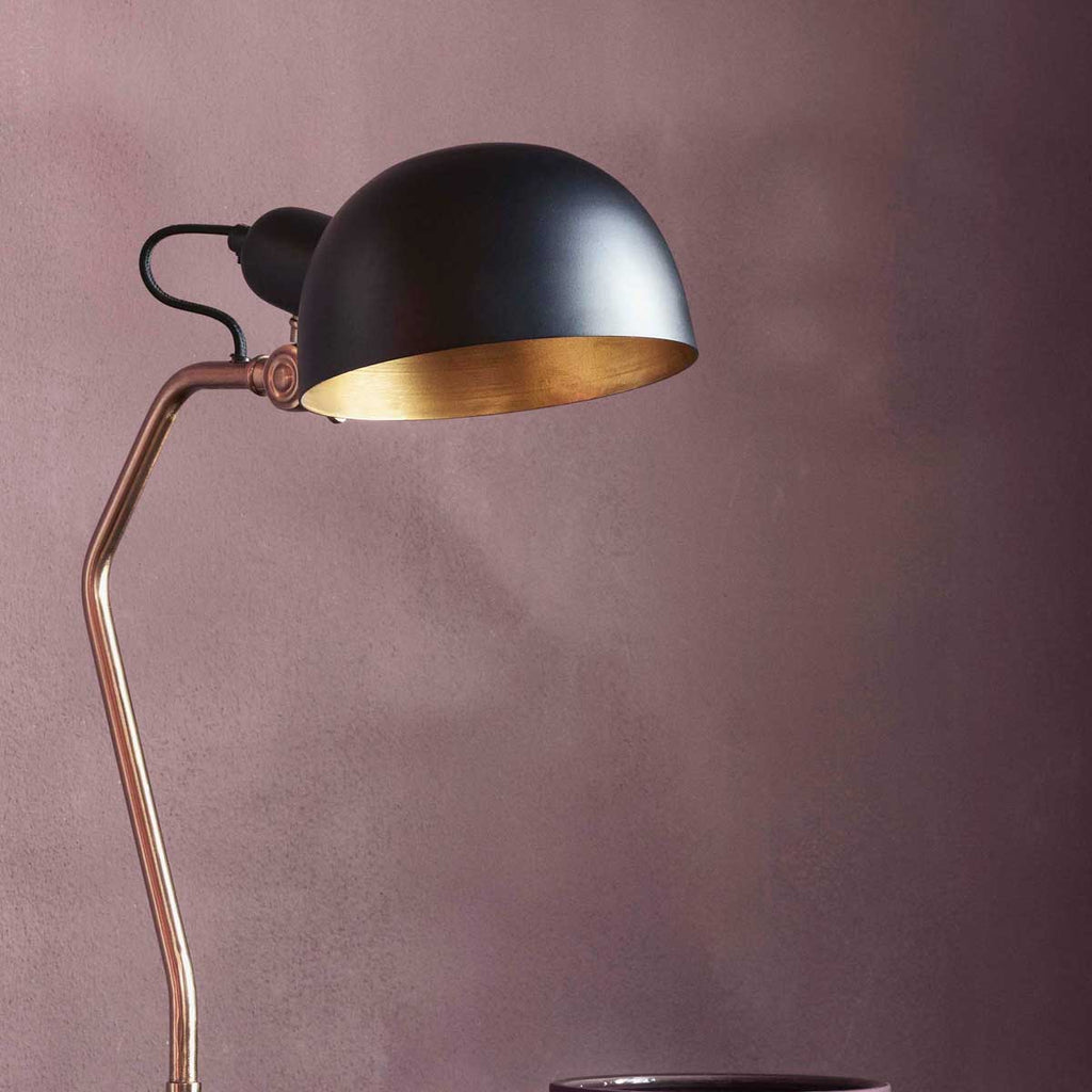 Broste Copenhagen Table lamp Oscar Iron Black and Brass