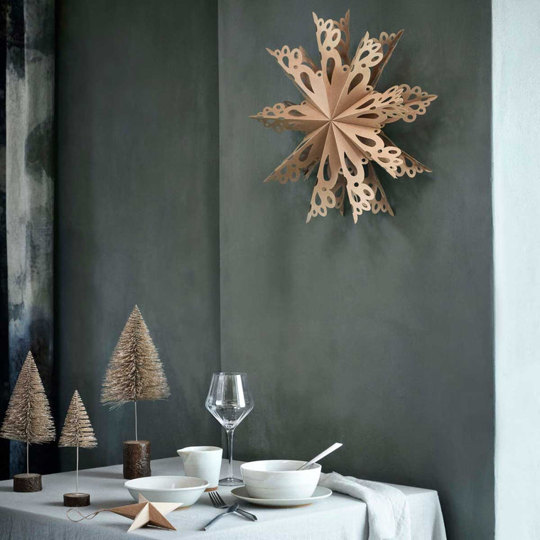 Deco Snowflake XL 76cm Natural