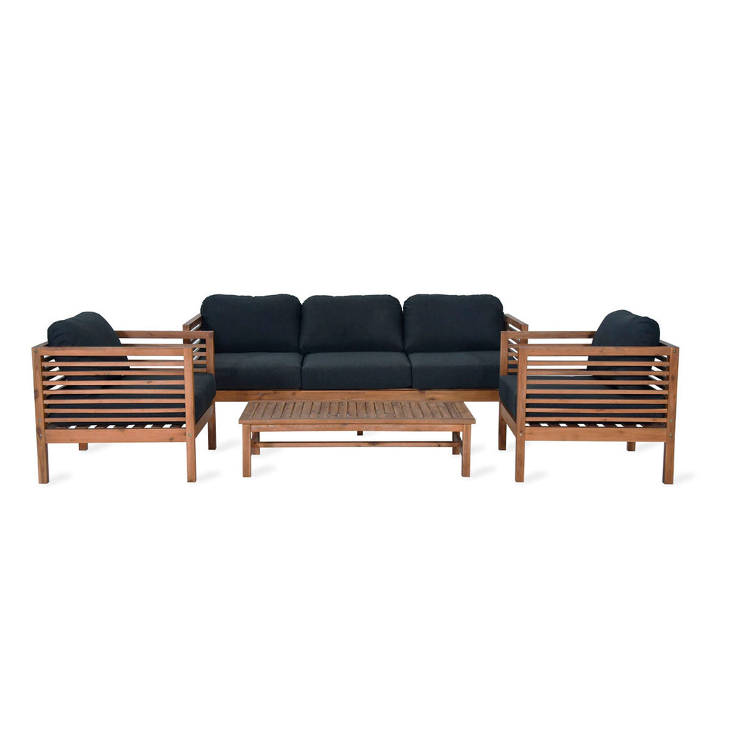 Cadgwith sofa set wooden outdoor seating garden trading