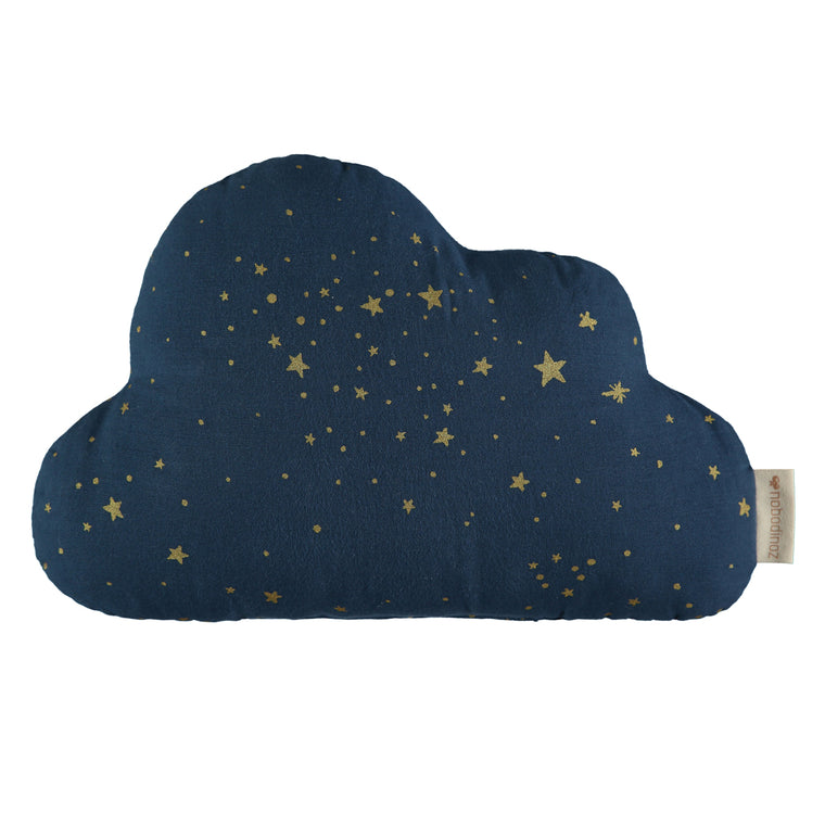 Cloud cushion • gold stella night blue