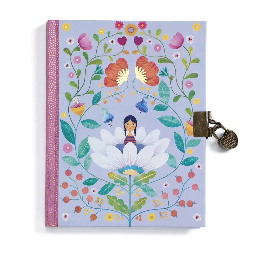 Marie secret notebook Djeco notebook with heat padlock and two keys