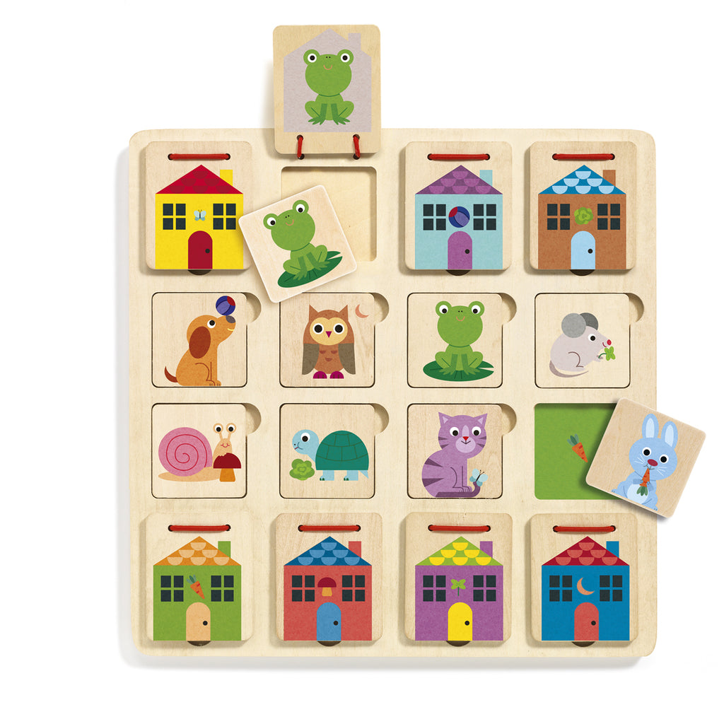 Cabanimo hide and seek wooden puzzle from Djeco