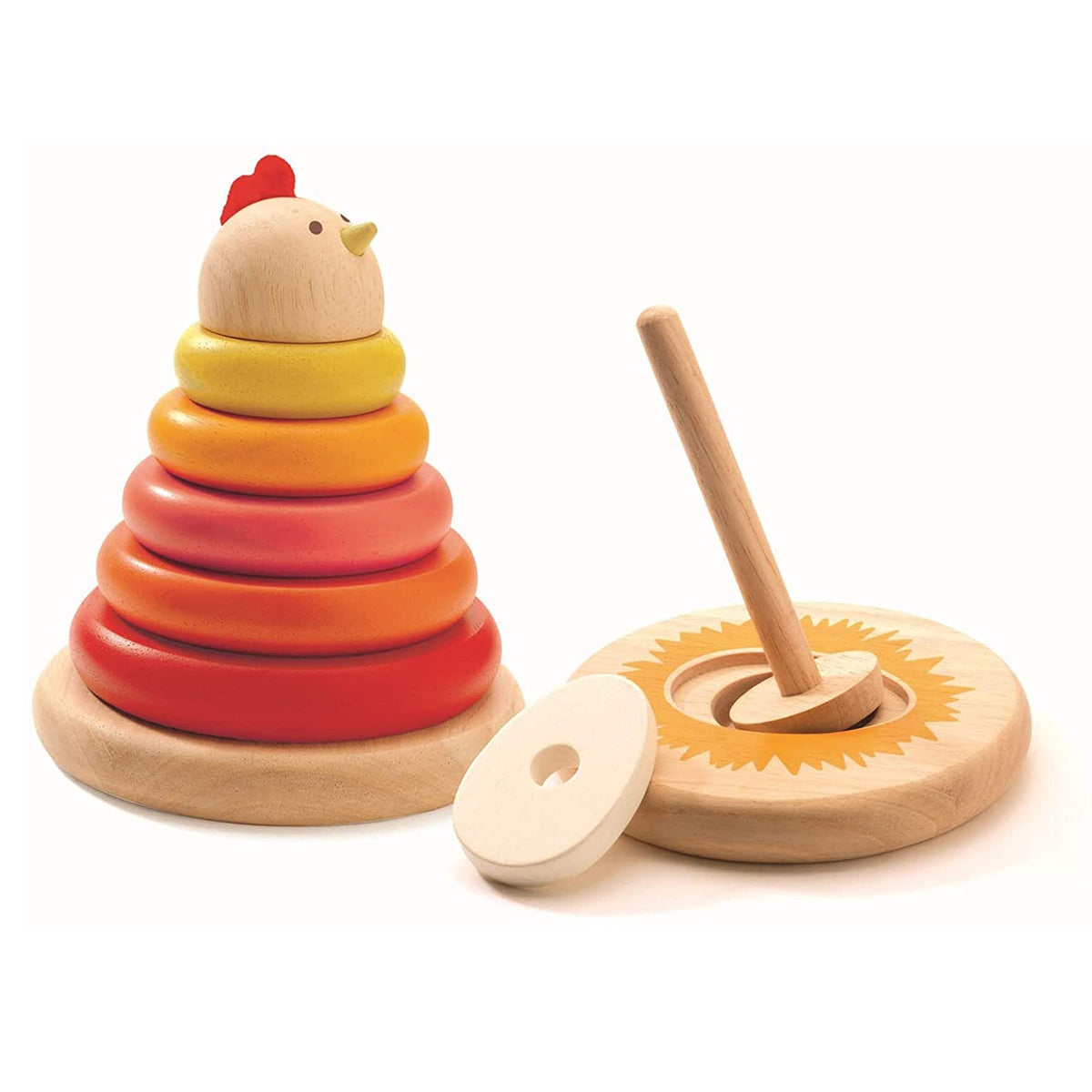Stacking Game Mother hen wooden toy from Djeco