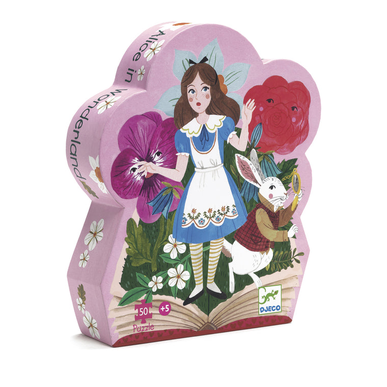 Alice in wonderland 50 pieces jigsaw puzzle from Djeco