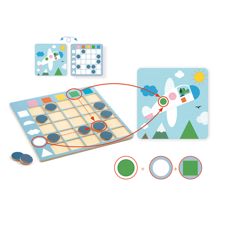 Coloformix wooden puzzle from Djeco