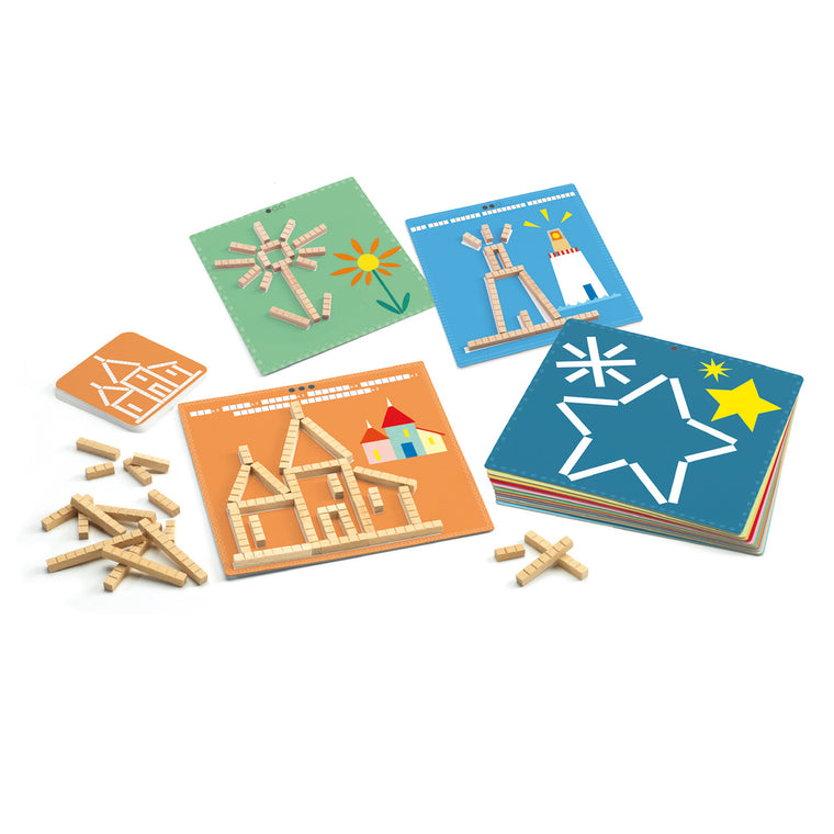 Eduludo Calculation Sticks wooden puzzle from Djeco