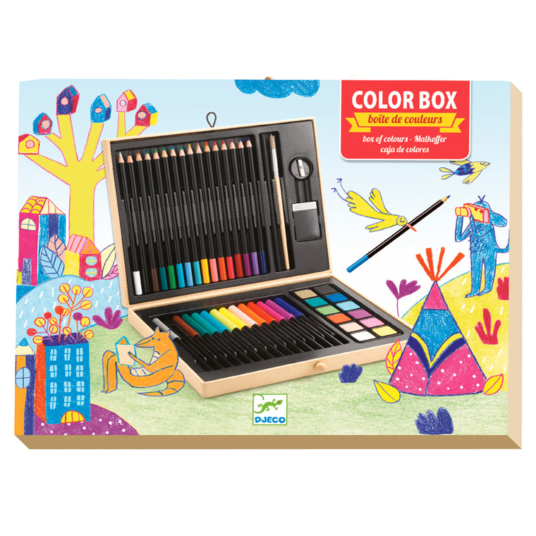 Colour Box of Colours Djeco box of coloured pens, pencils and paints