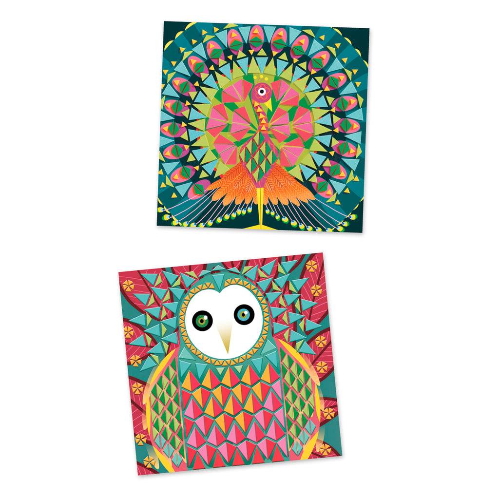 Mosaics Coco Djeco 8-14 years Peacock and Owl