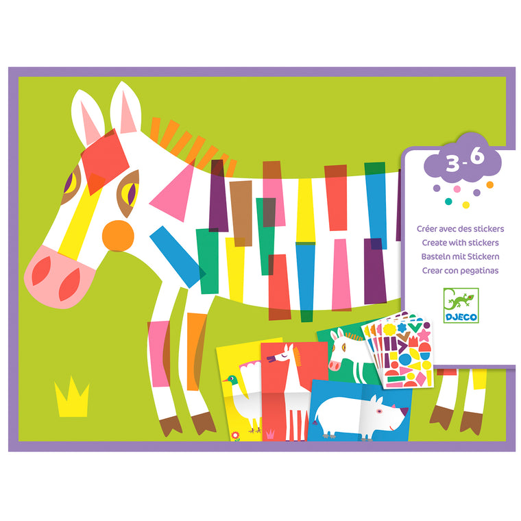 Create with Stickers Large Animals