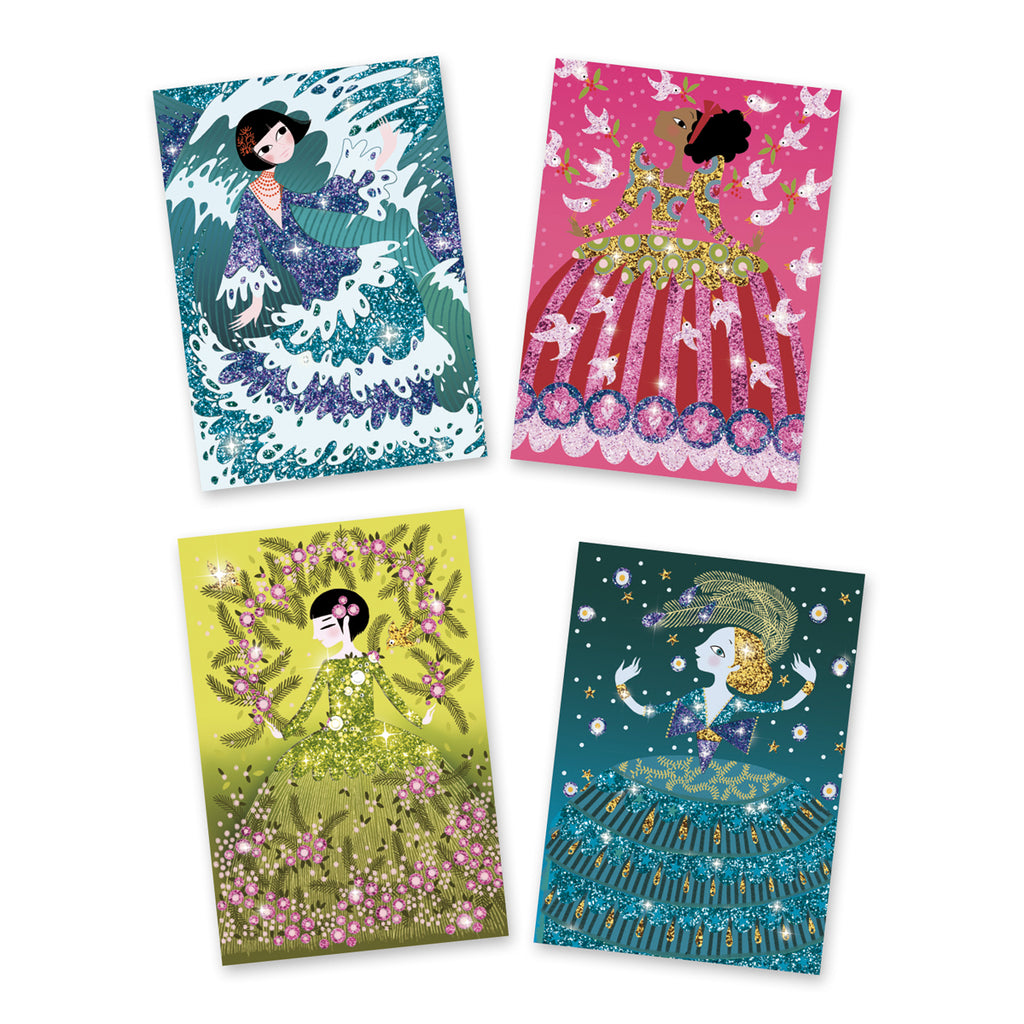 Glitter Boards - glitter dresses age 8 -12 years Djeco