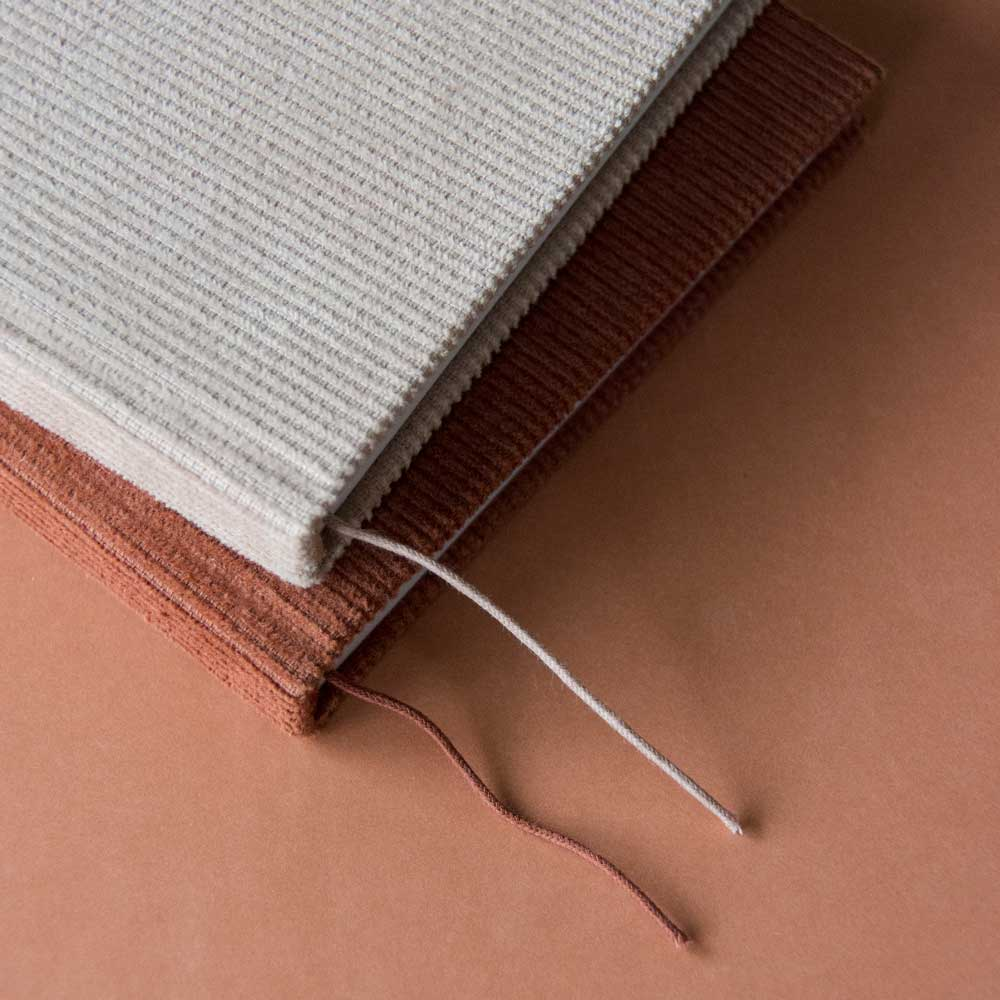 Notebook in Corduroy Soft Pink by Monk and Anna