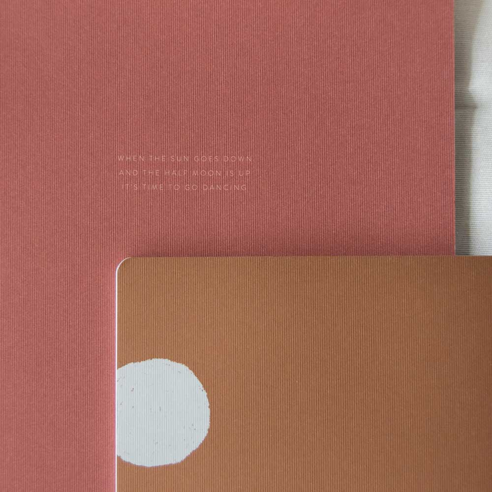Notebook XL Quote Brick Red by Monk and Anna
