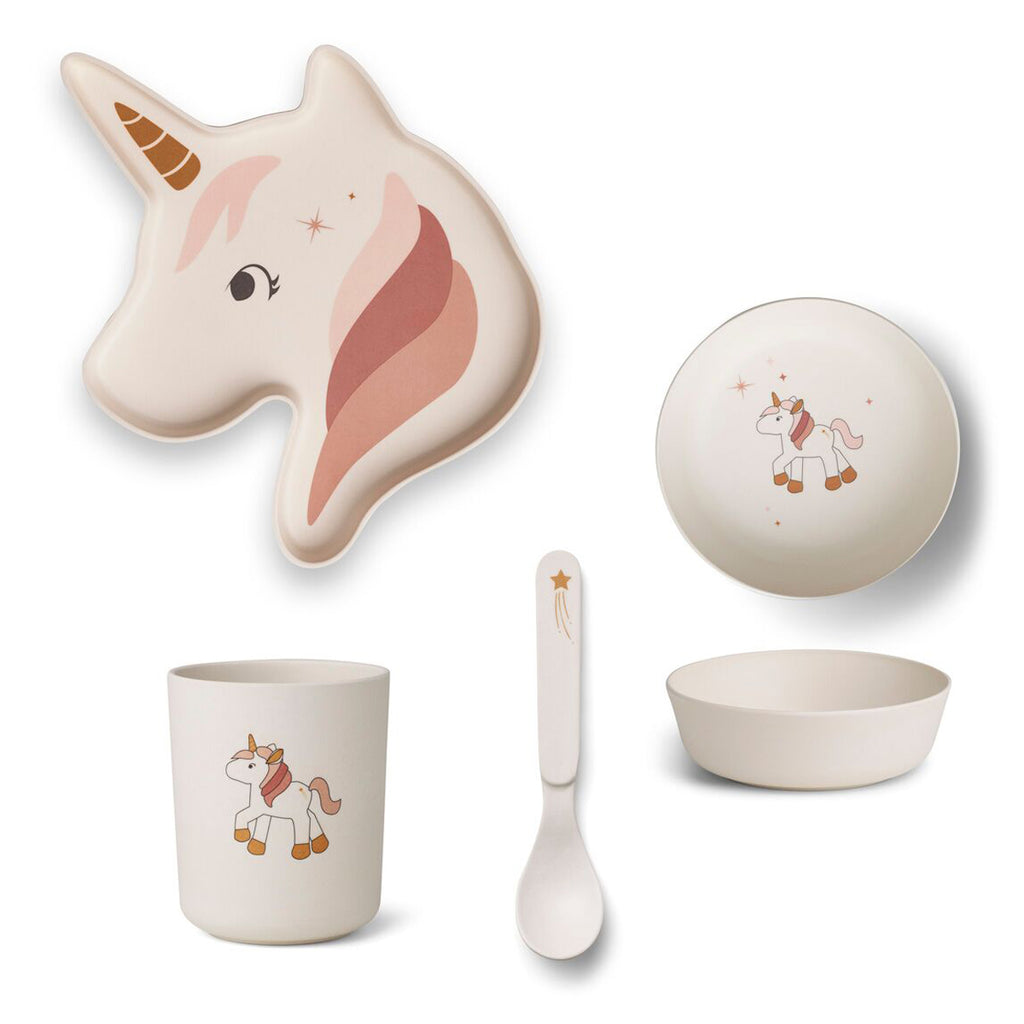 Liewood Elin bamboo box set UNICORN