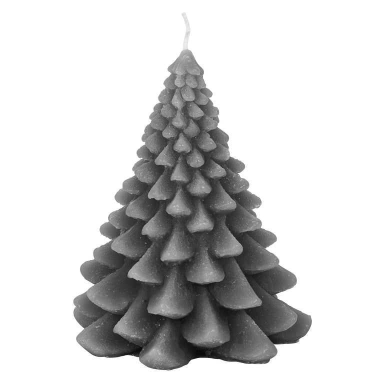 Christmas Tree Candle Steel Grey