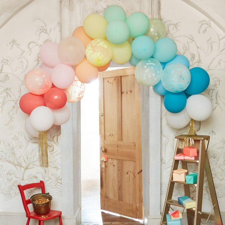 Meri Meri Rainbow Balloon Arch Kit 6 foot