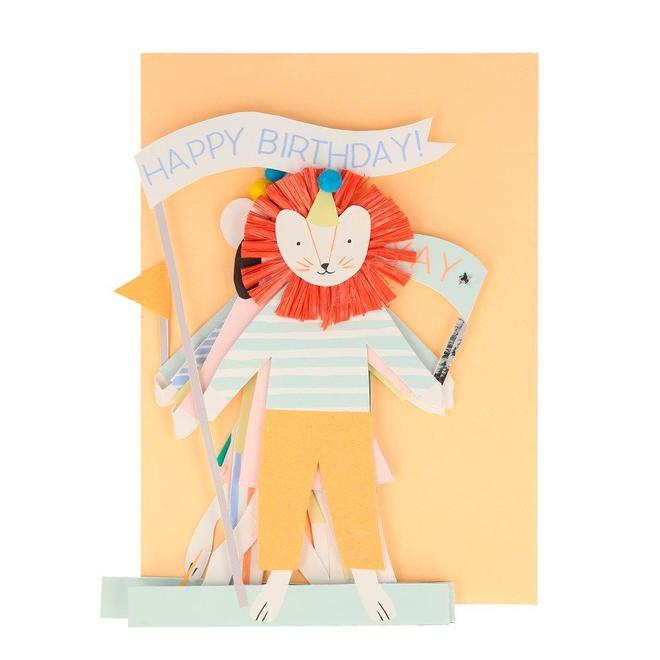 Meri Meri Party Animal Concertina Card