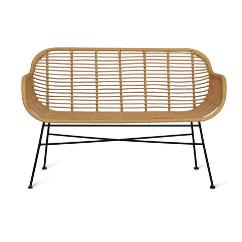 Hamstead bench all weather bamboo garden trading