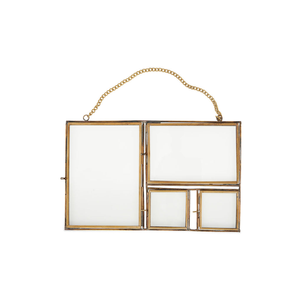 Nkuku Kiko Multi Frame - Antique Brass
