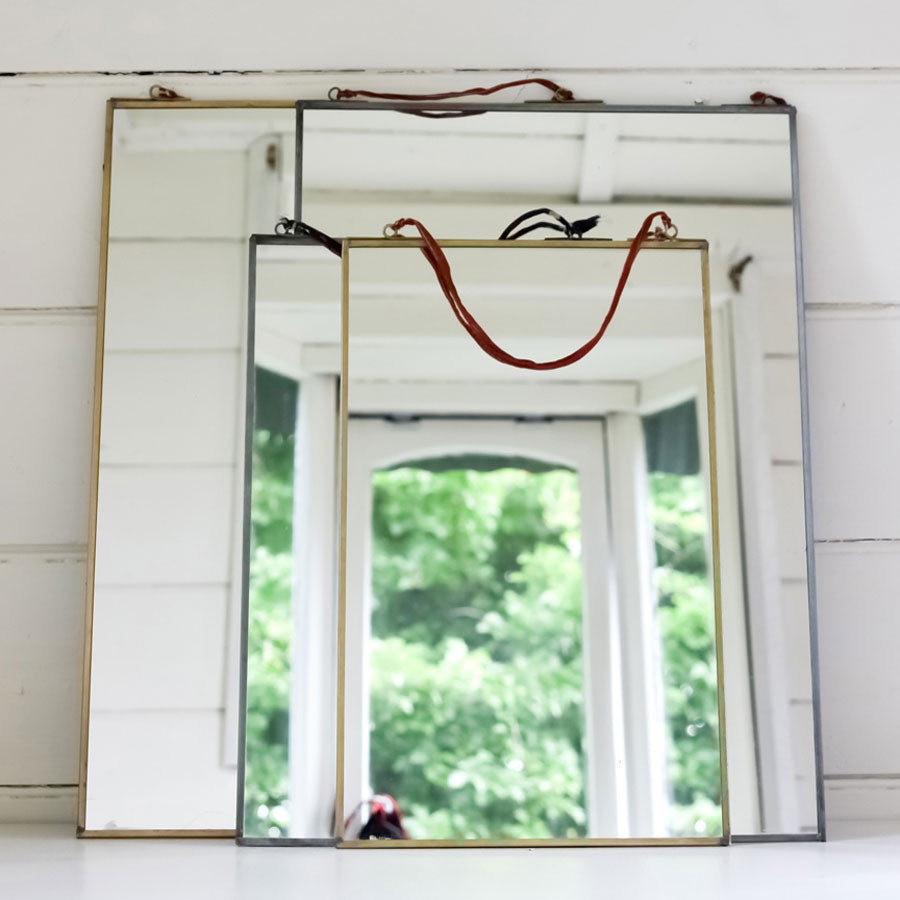 Nkuku Kiko Antique Brass Mirror