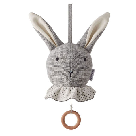 Knitted rabbit musical mobile by Liewood Angela music mobile - Rabbit