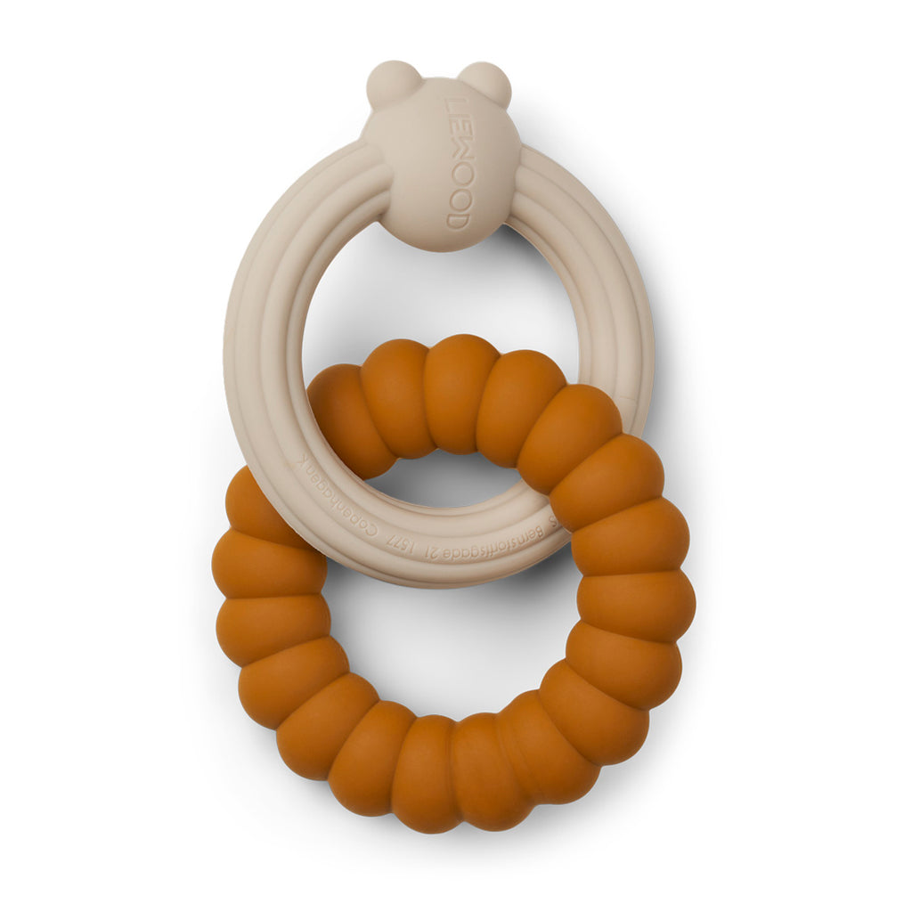 Liewood Herbert Teether - Mr bear mustard sandy mix